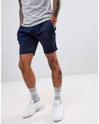Pantalones cortos azul marino Major Gym King de hombre de color Blue