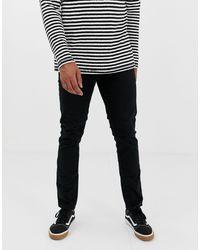 Jeans slim neri di New Look in Black da Uomo