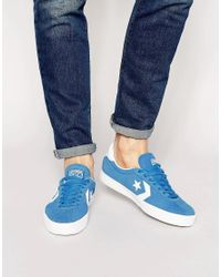 Lyst - Converse Star Player Break Point Trainers in Blue for Men ff8db8787