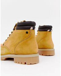 Jack & Jones Brown Lace Up Nubuck Boots for men