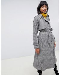 ASOS Red Heritage Check Coat