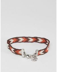 ASOS - Beaded Bracelet Pack In Brown And Burgundy for Men - Lyst