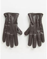 Коричневые Перчатки Из Искусственной Кожи -коричневый Jack & Jones для него, цвет: Brown