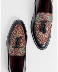 House Of Hounds Black Clash Tassle Loafers for men