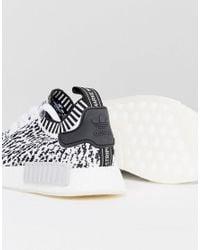 Adidas Originals Nmd R1 Primeknit Trainers In White Bz0219 for men