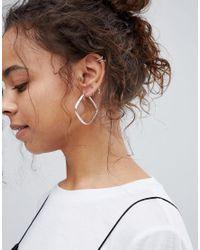 Kingsley Ryan - Metallic Sterling Silver Square Hoop Earrings - Lyst