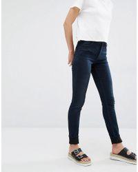 Monki Blue Mocki Slim Mid Waist Jean
