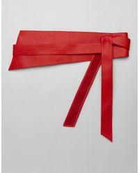 Glamorous - Red Oversized Obi Wrap Waist Belt - Lyst