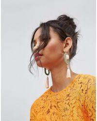 ASOS - Metallic Pastel Resin Tassel Drop Earrings - Lyst