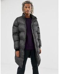 Pull&Bear Black Puffer Jacket for men