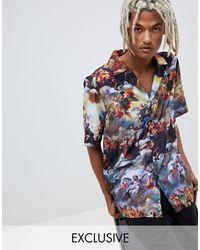 Inspired - Camicia stampata con rever di Reclaimed (vintage) in Multicolor da Uomo