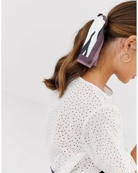 ASOS Multicolor Zebra Print Headscarf/neckerchief With Natural Border