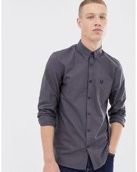 Camisa Oxford clásica en gris Fred Perry de hombre de color Gray