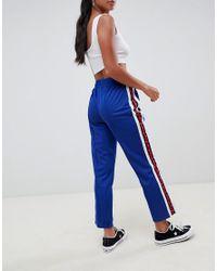 Pantalones de chándal con cinta lateral con tachuelas ASOS de color Green