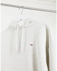 Tommy Hilfiger Gray Branded Hem Hoodie Dress