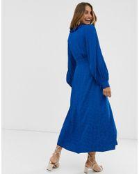 Robe cache-cœur longueur mollet en jacquard & Other Stories en coloris Blue