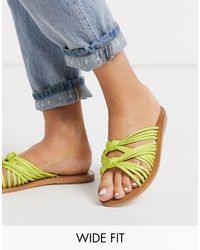 ASOS Green Wide Fit Veronica Knot Sandal