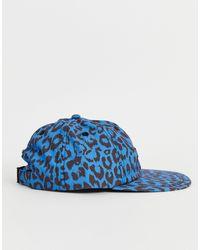 Gorra azul con 6 paneles y estampado Obey de hombre de color Blue