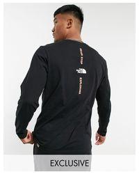 Черный С Серым Лонгслив Vertical – Эксклюзивно Для Asos-черный Цвет The North Face для него, цвет: Black