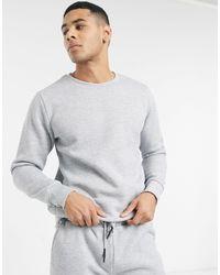 Completo tuta sportiva con maglione girocollo e joggers grigi di Brave Soul in Gray da Uomo