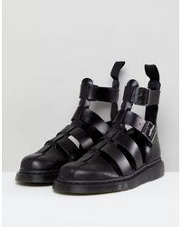 Dr. Martens Black Geraldo Sandal for men