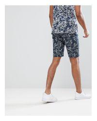 Pantalones cortos chinos con estampado ondeado Bellfield de hombre de color Blue