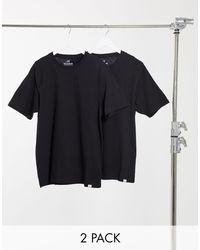 Pull&Bear Black Join Life 2 Pack T-shirt for men