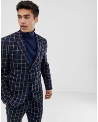 Noak Blue Slim Fit Suit Jacket for men