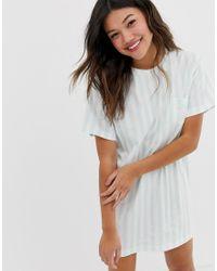 Camiseta de pijama Bridesmaid Squad ASOS de color Blue