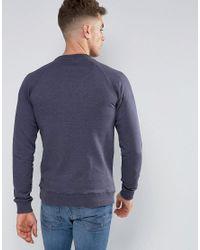 Blend - Blue Crew Neck Sweater for Men - Lyst