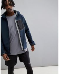 ASOS 4505 Jacket With Bonded Inner Fleece In Blue for men