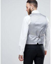 Heart & Dagger Black Skinny Waistcoat for men