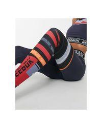Reebok Blue – Training – Leggings mit Logo und Zierstreifen