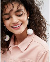 ASOS - Multicolor Limited Edition Mermaid Sequin Ball Drop Earrings - Lyst