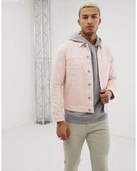 Giacca di jeans rosa di ASOS in Pink da Uomo