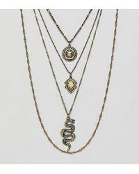 Colliers multi-rangs avec serpent et pièce de monnaie - Or brûlé Reclaimed (vintage) pour homme en coloris Metallic