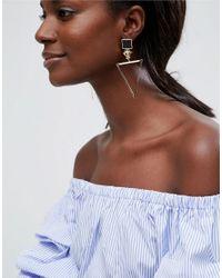 ASOS - Metallic Open Triangle Drop Earrings - Lyst