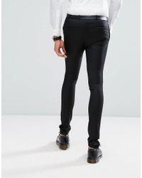 Noak Tall Super Skinny Suit Trouser In Black for men