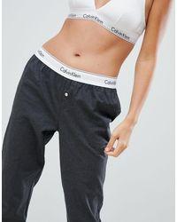 Хлопковые Пижамные Штаны -серый Calvin Klein, цвет: Multicolor
