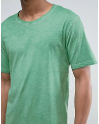 Only & Sons - Green T-shirt In Oil Wash for Men - Lyst