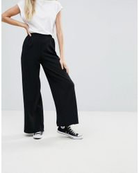 Bershka Black Wide Leg Pant