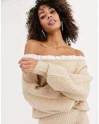 Бежевый Вязаный Джемпер С Оборками -мульти Never Fully Dressed, цвет: Natural