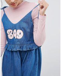 Lazy Oaf   Blue Bad Babydoll Denim Dress   Lyst