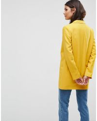 ASOS Yellow Tailored Double Breasted Mustard Blazer