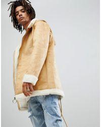 Veste oversize imitation peau de mouton Sixth June pour homme en coloris Multicolor