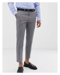 Pantalones Moss Bros de hombre de color Gray