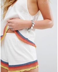 Free People | White Fire Matching Shorts And Vest Set | Lyst
