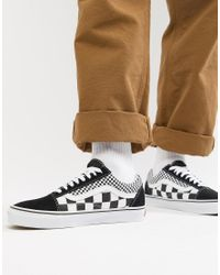 Old Skool - Baskets style damier - Noir VN0A38G1Q9B1 Vans pour ...
