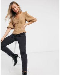 Блузка Верблюжьего Цвета -бежевый New Look, цвет: Natural