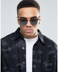 Quay Brown Retro Sunglasses Flint In Tort for men